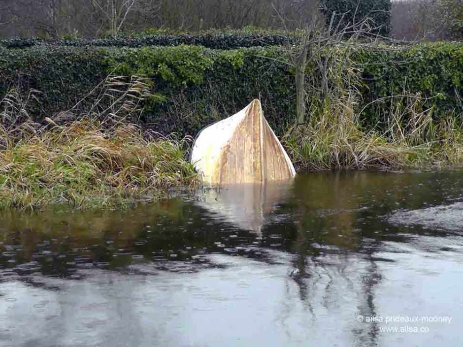 sunken boat, athy, ireland, travel, travelogue, ailsa prideaux-mooney