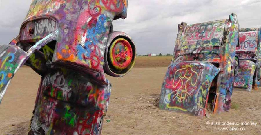 Cadillac Ranch, Amarillo, Texas, roadside attractions, travel, travelogue, ailsa prideaux-mooney