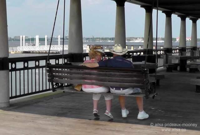 seafront porch swing, charleston, south carolina, travel, travelogue, ailsa prideaux-mooney