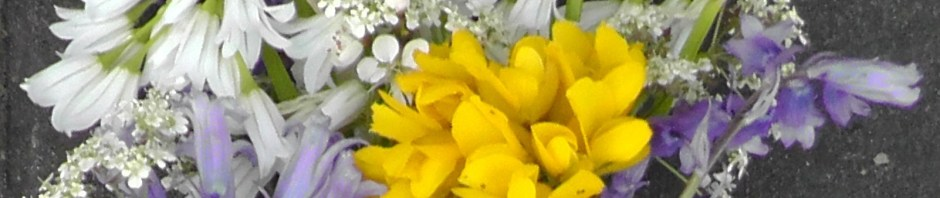 may day flowers, bouquet, beltane, la beltaine, travel, travelogue, ailsa prideaux-mooney
