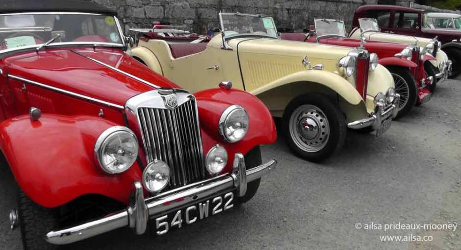vintage car rally, irish veteran and vintage car club, powerscourt estate, picnic, travel, travelogue, ireland, ailsa prideaux-mooney