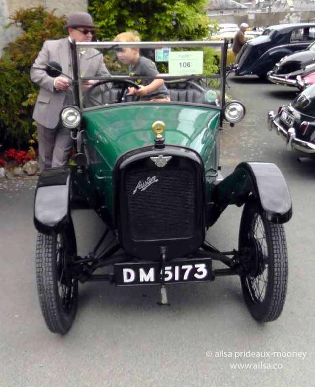 vintage car rally, irish veteran and vintage car club, powerscourt estate, picnic, travel, travelogue, ireland, ailsa prideaux-mooney, austin martin