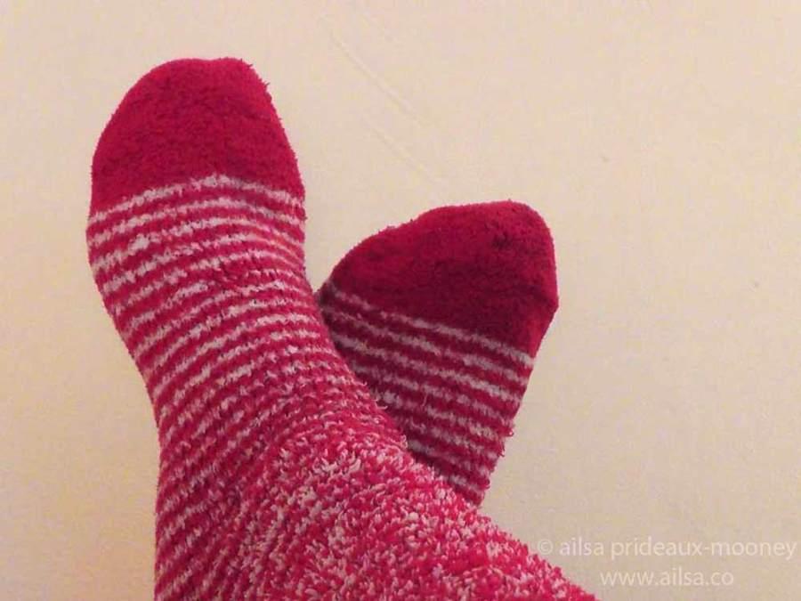 christmas socks, travel, travelogue, ailsa prideaux-mooney