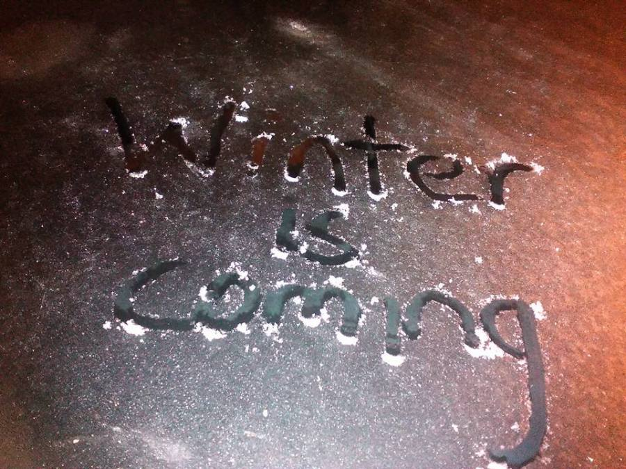 winter is coming, frosty windshield, ailsa prideaux-mooney
